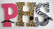 Animal Print Letter Set - Zebra & Leopard Nursery Decor for Girls - LetterLuxe