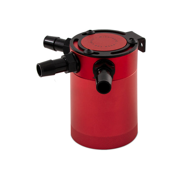 Mishimoto Compact Baffled Oil Catch Can 3-Port - Red - Neo Garage