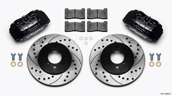 Wilwood DPHA Front Caliper & Rotor Kit Drilled Honda / Acura w/ 262mm OE Rotor - Neo Garage
