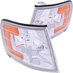 ANZO - Corner Lights 1994-1997 Honda Accord Euro Corner Lights Chrome w/ Amber Reflector