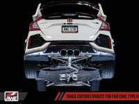 AWE Tuning 2017+ Honda Civic Type R Track Edition Exhaust w/Front Pipe & Triple Chrome Silver Tips - Neo Garage
