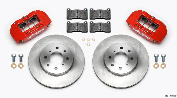 Wilwood DPHA Front Caliper & Rotor Kit Red Honda / Acura w/ 262mm OE Rotor - Neo Garage