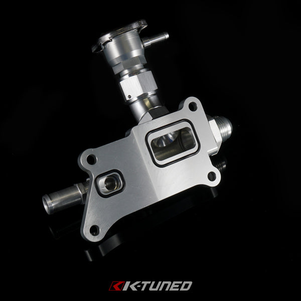 K-Tuned - K24/K20Z3 Upper Coolant Housing with Integrated Filler - Straight Inlet - Neo Garage