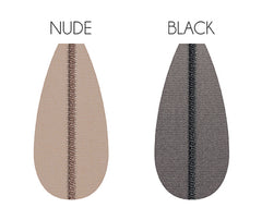 Colour samples, black and nude for the Riga Up tights by Oroblu available in Australia