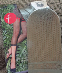 Colour sample sage green Franzoni Stenofila footless fishnet tights available in Australia.