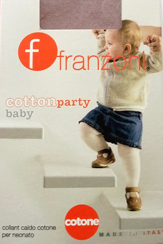 Packet of Franzoni cotton baby tights available in Australia.