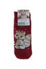 Coccoli red slipper squirrel socks for kids.