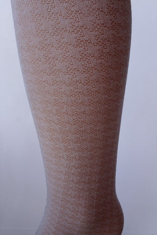 Close up of the pattern for the Educata tights by Franzoni, they have a houndstooth pattern.