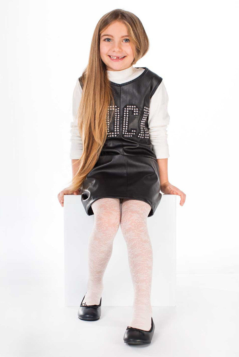 Franzoni Girls Equilibrista Floral Lace Tights Italian