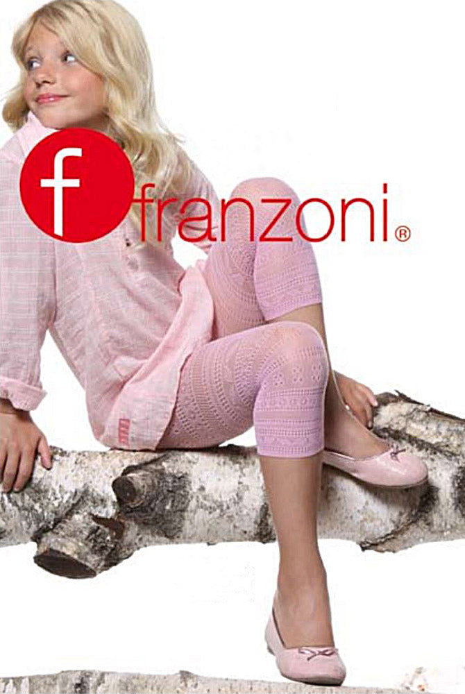 Franzoni Girls Monstera Lace Capri Footless Tights
