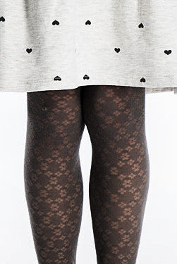 Franzoni Girls Efficace Floral Pattern Tights