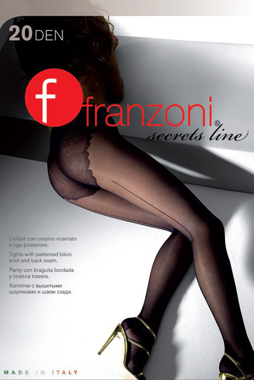 Franzoni Secrets Line Back Seam Sheer Hosiery