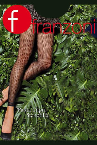 Franzoni Stenofila Fishnet Pattern Sheer Footless Tights