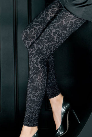 Oroblu Anais Damask Footless Tights