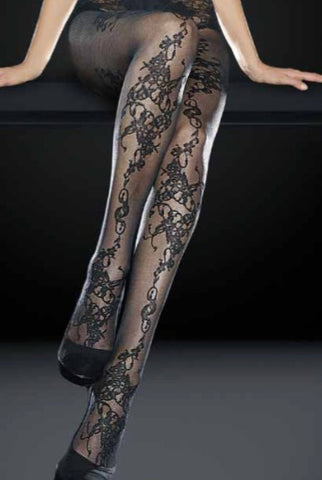 Oroblu Judy Floral Sheer Pattern Tights