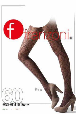 Lady's legs portrayed on a Hosiery packet for Franzoni hosiery.