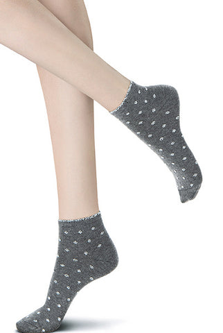 Oroblu Fluent Bi Pack Patterned Cotton Ankle Socks