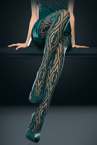Oroblu Allure Geometric Sheer Tights