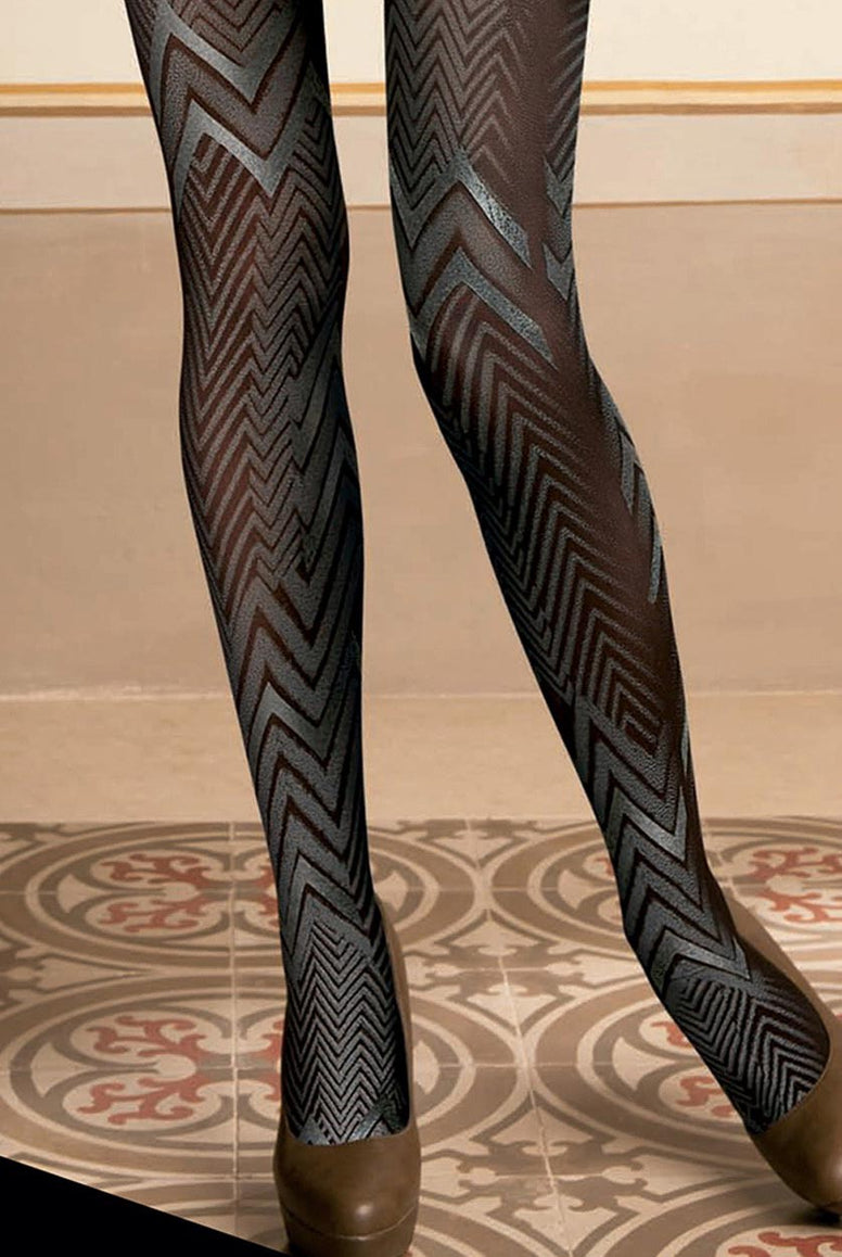 Oroblu Nicolette Faux Leather Pattern Opaque Tights
