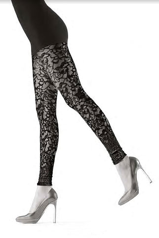 Oroblu Floriana Lace Floral Footless Tights