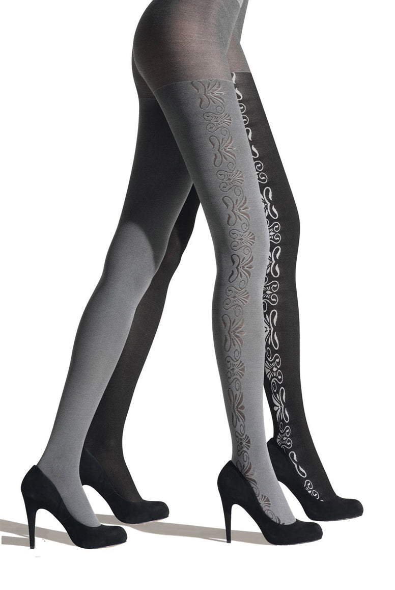 Franzoni Damascata Reversible Floral Tights