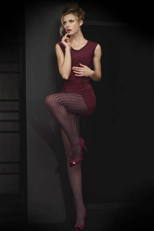 Oroblu Parisienne Melange Ribbed Opaque Fashion Tights