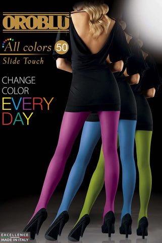 Poster of ladies backs, standing in a variety of coloured tight.