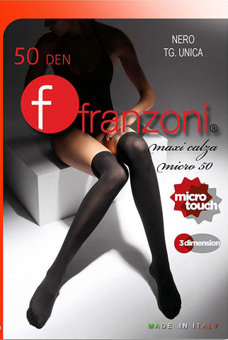 Franzoni packet of the maxi calza over the knee socks.