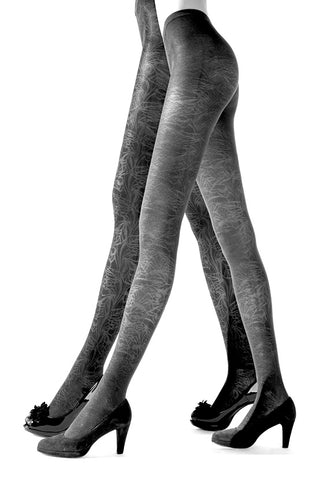 Franzoni Pavia Reversible Abstract Leaf Pattern Tights