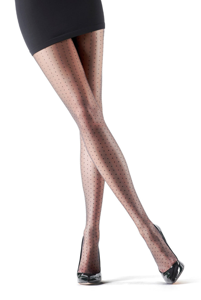 Oroblu Adelle Sheer Polka Dot Tights
