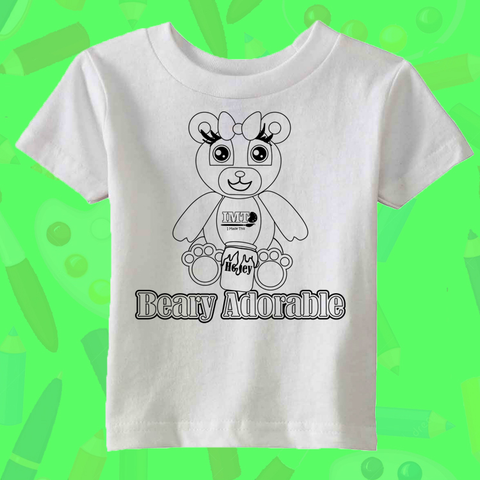8f25ec114 Allowing your little one to color directly on the shirt with washable  markers that can be washed and recolored over and over again!