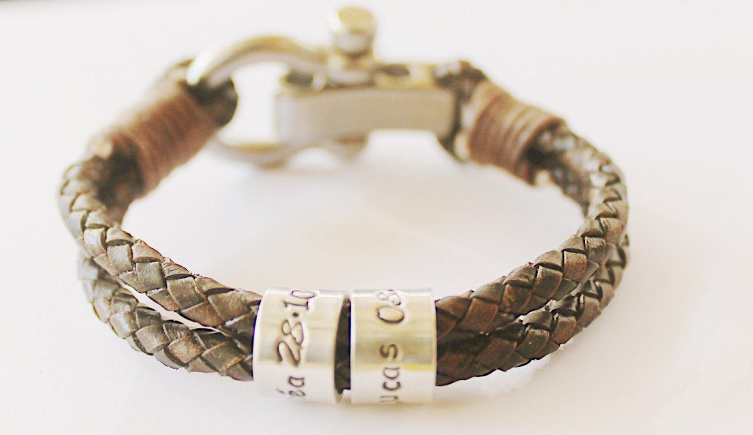 Fathers Day Gift ,Mens Leather Bracelet, personalised Bracelet for Men, Gifts gor Men, Custom Bracelet, Engraved Leather Bracelet