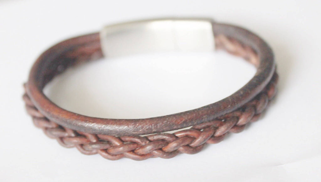 Double Cord Braided Bracelet