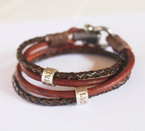 Mens Wrap Personalised Bracelet