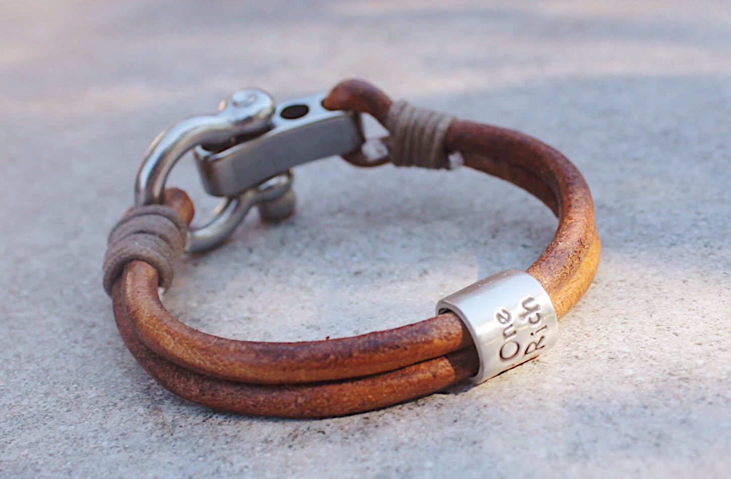 Mens Personalised Bracelet,Antique Leather Bracelet, Personalised Silver Name Bead Bracelet, Mens leather bracelet, leather bracelet, mens