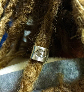 Personalised Dreadlock Bead , Pure Silver