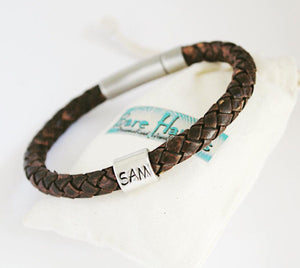 Simple 6mm Antique Brown Braid