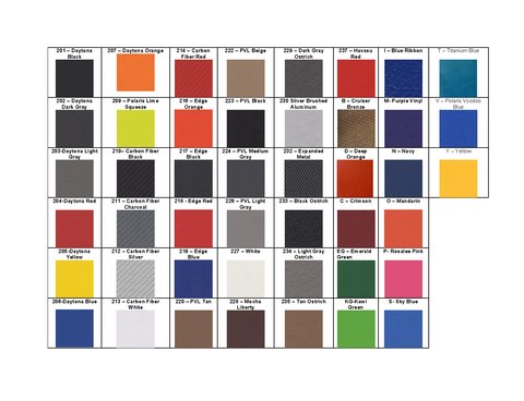 Additional Panels Fabric Options