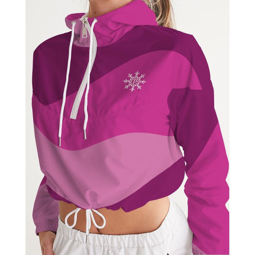 Pink Sorbet Women's Cropped Windbreaker