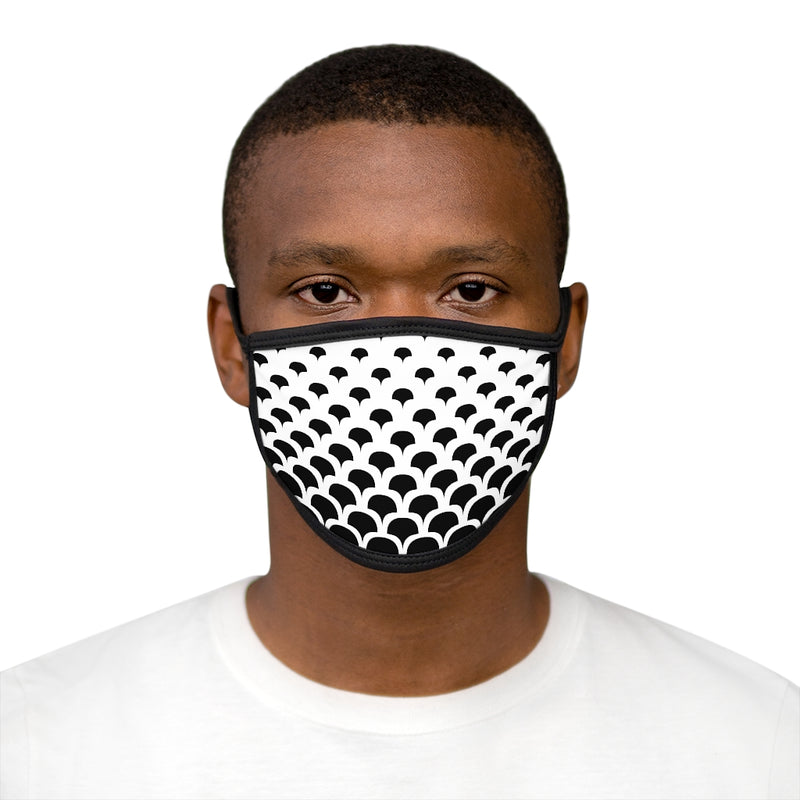 Unisex black and white patterned face cover