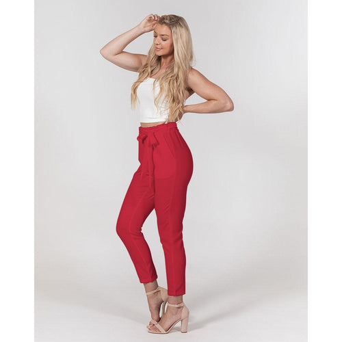 Holiday Red Women's Tapered Pants