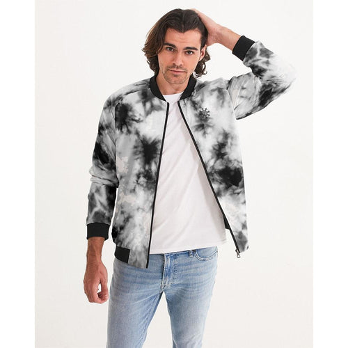Marbled Tie Dye Men's Bomber Jacket