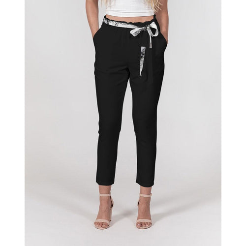 Women's Tapered Belted Pants