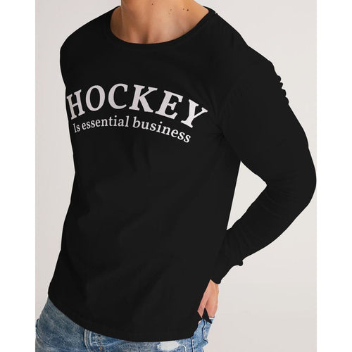 Hockey is essential business long sleeve tee