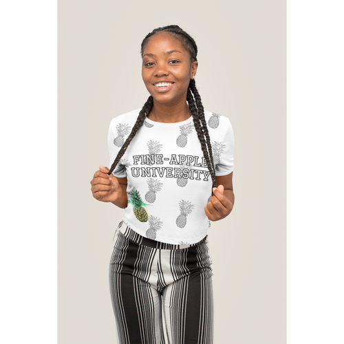 Fine-Apple University Crop Top