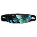 Electric Blue Floral Fanny Pack
