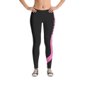 Ladies Hockey Leggings Pink Stick Accent