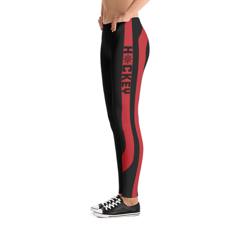 Ladies Hockey Leggings Red Stick Accent