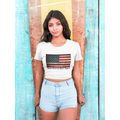 flag crop top patriotic