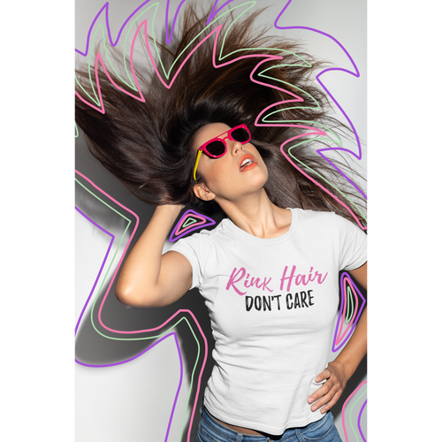 Ladies Rink Hair Don't Care Short Sleeve Tee